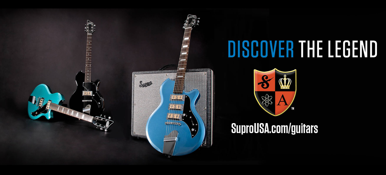 Supro Guitars and amps homepage slider 2017