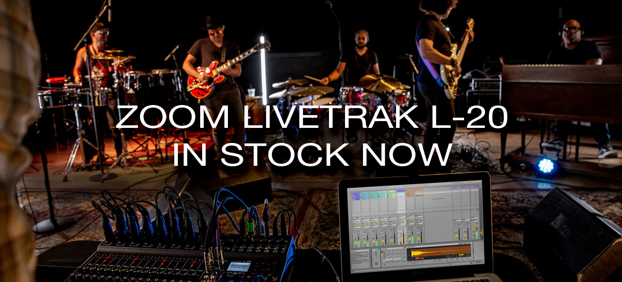 Zoom L-20 L20 Dynamic Music Australia Livetrak