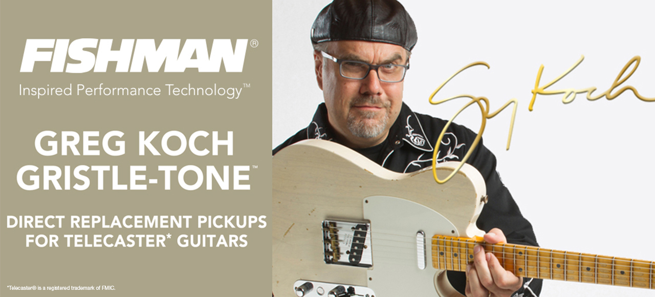 greg koch gristle tone guitar pickups by fishman fluence