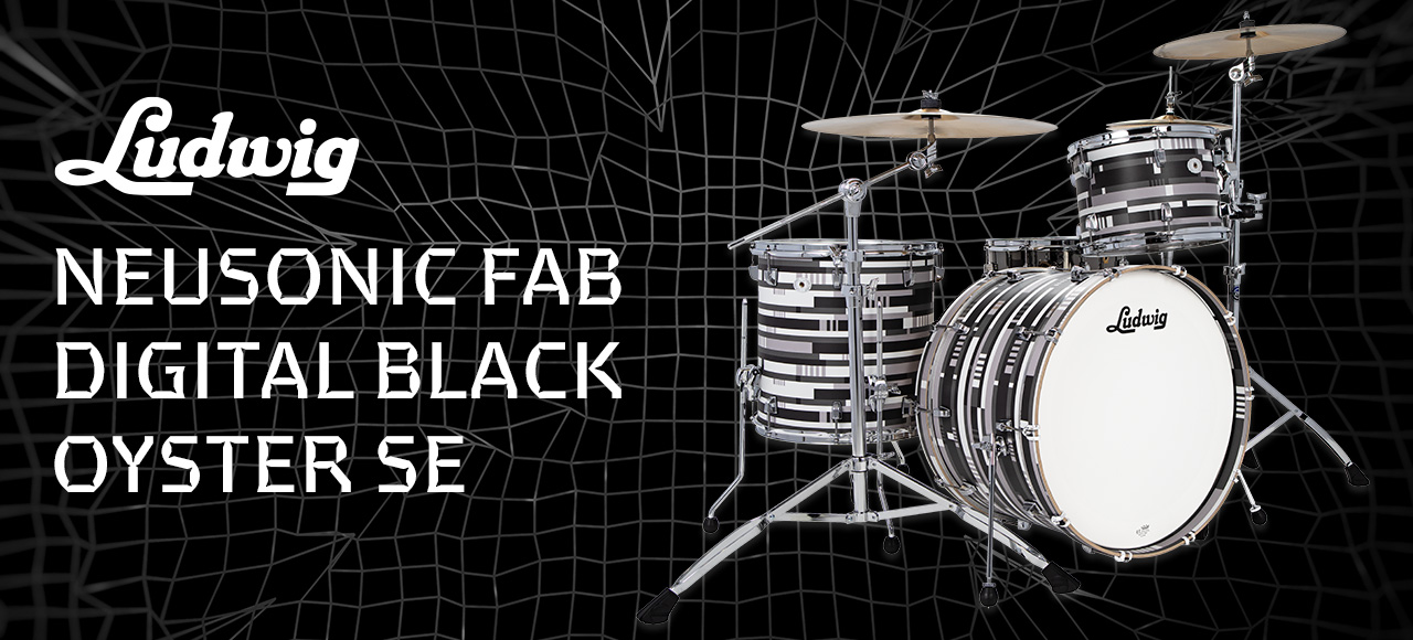 New Ludwig Neusonic Fab Digital Black Oyster Dynamic Music Australia