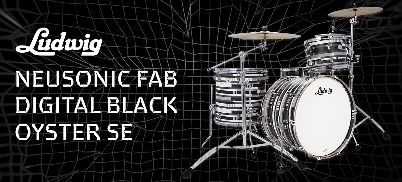 New Ludwig Neusonic Fab Digital Black Oyster Dynamic Music Australia
